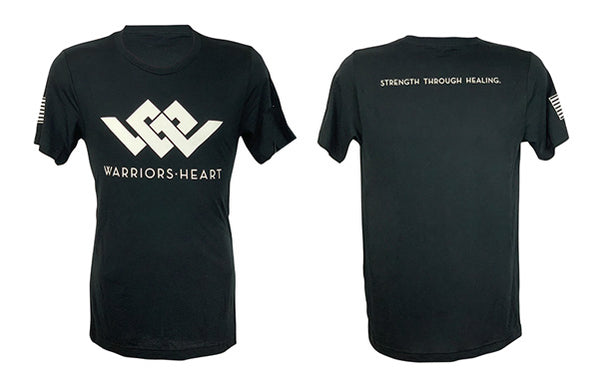 Warriors Heart Tri-Blend Shirt - White Logo