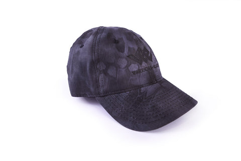 blacked out tactical kryptek typhon range hat angle