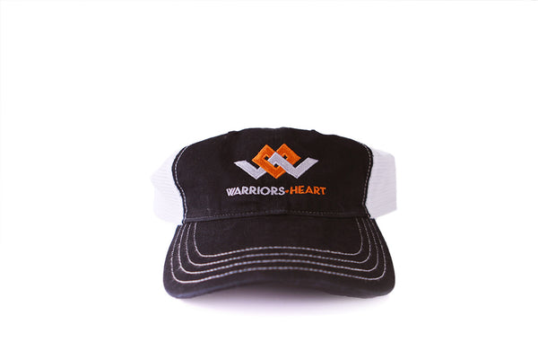 warriors heart relaxed trucker hat front