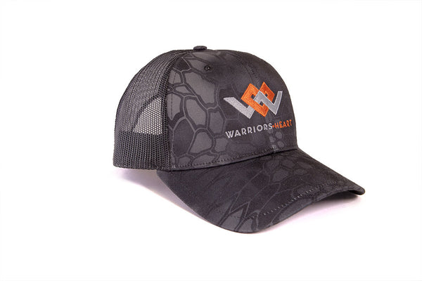 warriors heart trucker hat angle