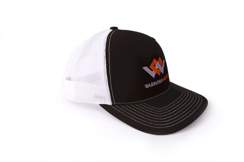 warriors heart structured trucker hat angle