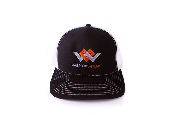 warriors heart structured trucker hat front
