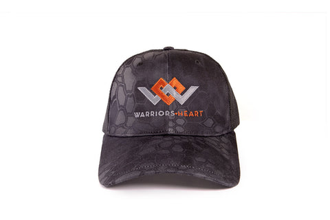 warriors heart trucker hat front