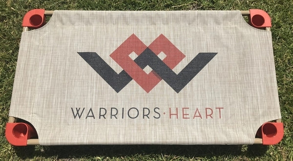 warriors heart dog board bed