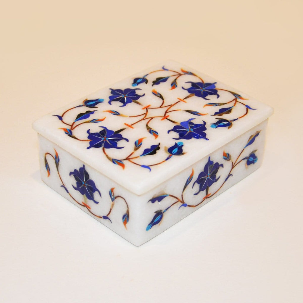"Hand made 4""x 3"" Marble Box by kaarigar made in India - 1"