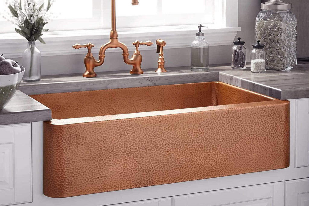 Customized Copper Kitchen Sink, Handmade Copper Sink, Anti microbial Sink, Family Health