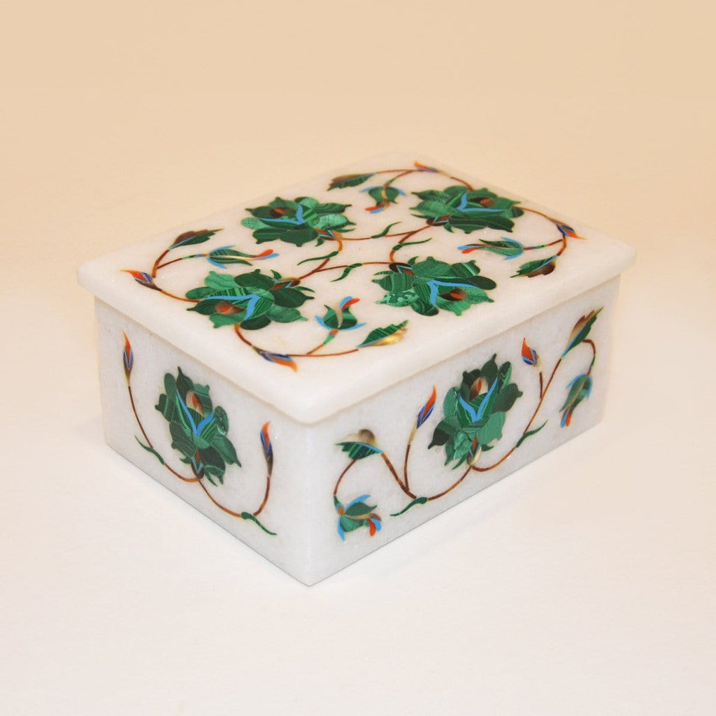 "Hand made 4""x 3"" Marble Box by kaarigar made in India - 4"