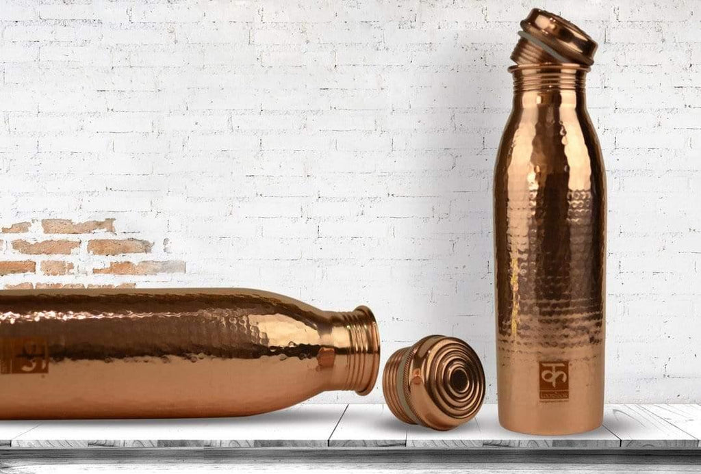 Handmade Copper Water Bottle - 950 ml.