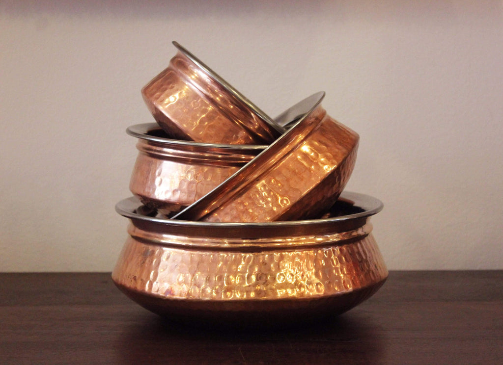 Copper Handi, Copper Tableware, Handmade Copper Tableware, Handmade Copper Handi