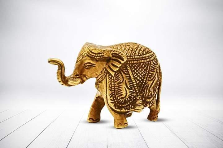 Solid Brass Elephant - Kaarigar Handicrafts Inc.