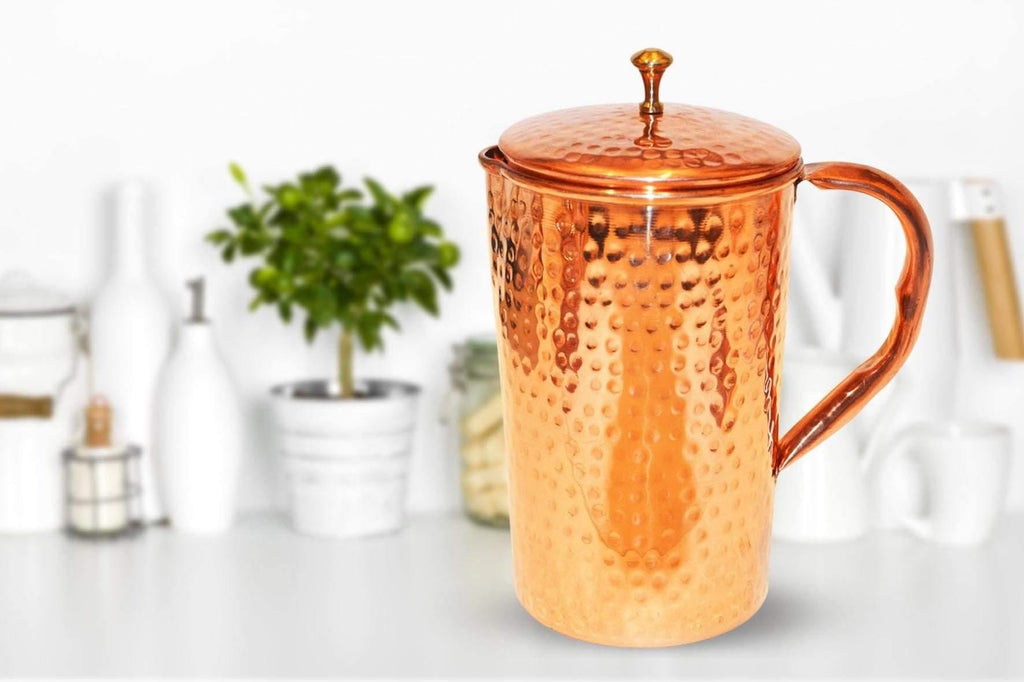 Handmade Copper Water Jug - 50 oz.