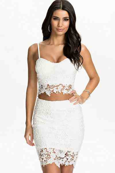 f7ab8994e0d43 White Lace Bustier Top Skirt Set Two pieces Skirt Set – The Billion ...