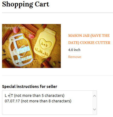 Save the date mason jar cookie cutter