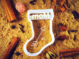 Personalized Santa Sock cookie cutter