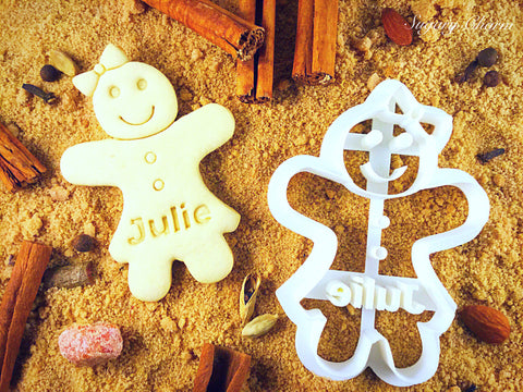 Personalized Gingerbread Girl Cookie Cutter