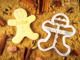 Personalized Gingerbread Boy Cookie Cutter