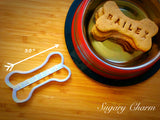 Personalized DogBone cookie cutter (NAME YOUR COOKIE)