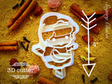 Ballet Girl cookie cutter 1