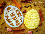 Egg with Flowers cookie cutter