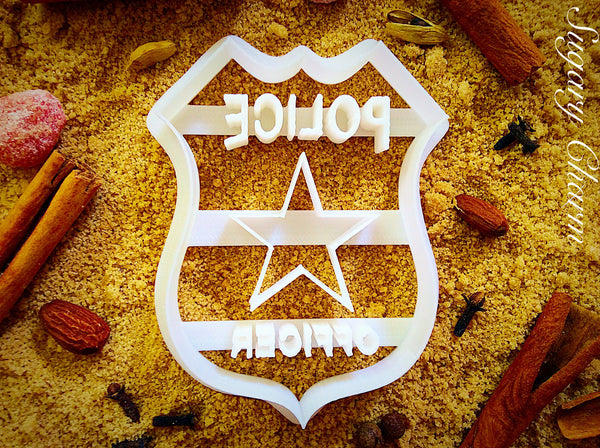 Police Badge Cookie Cutter Sugarycharm
