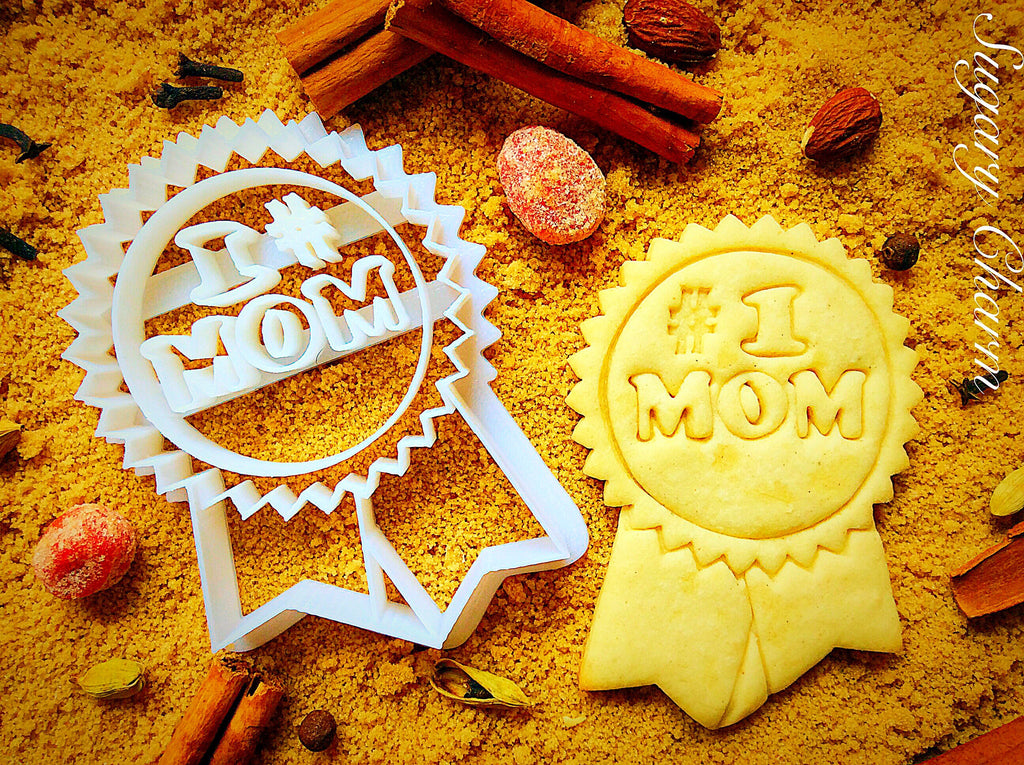 No.1 Mom cookie cutter