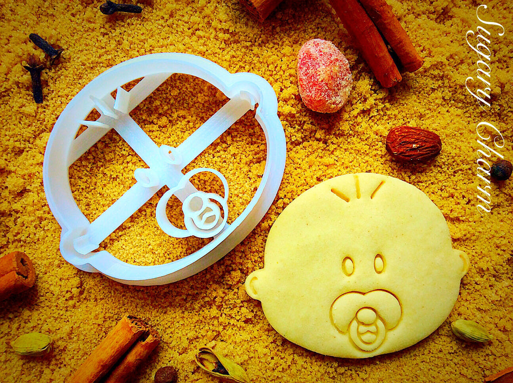 Baby Face cookie cutter