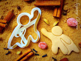 Flying Super Hero cookie cutter