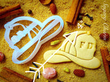 Fireman helmet cookie cutter 1