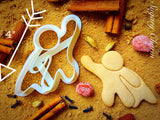 Flying Super Hero cookie cutter 1