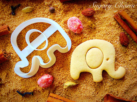 Elephant with Ear cookie cutter
