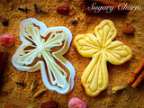 Cross with Ornaments cookie cutter