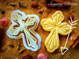 Cross with Ornaments cookie cutter 1