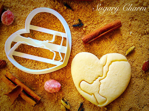 Couple In Heart cookie cutter