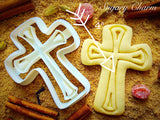 Cross with Line cookie cutter