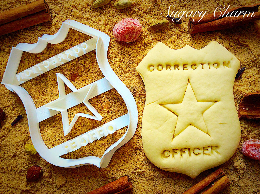 Correction Officer Badge cookie cutter
