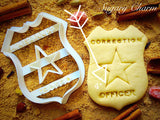 Correction Officer Badge cookie cutter 1