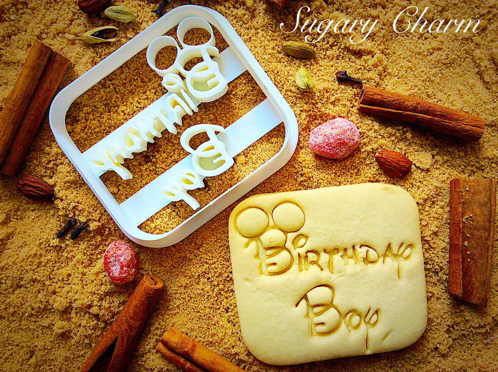 Birthday Boy cookie cutter