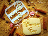 Birthday Boy cookie cutter 1