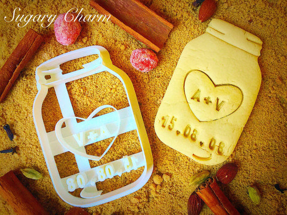 Mason Jar (save the date) cookie cutter