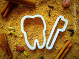 Teethbrush cookie cutter