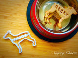 Personalized Doberman cookie cutter (NAME your COOKIE)