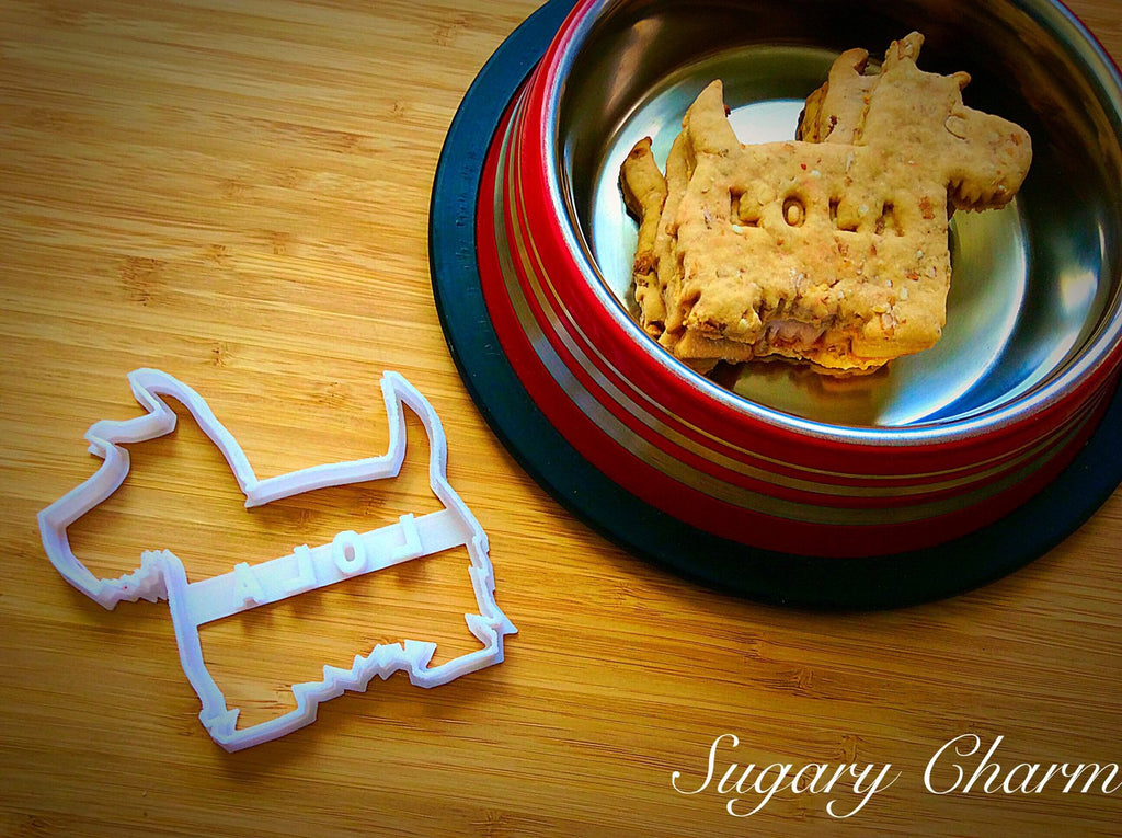 Personalized Scottie dog cookie cutter (NAME your COOKIE)