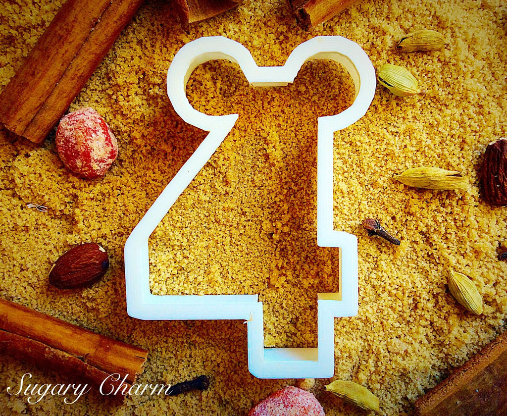 Mickey Number 4 cookie cutter