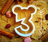 Mickey Number 3 cookie cutter