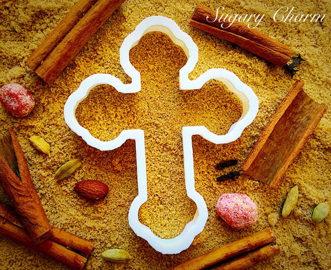 Budded Cross cookie cutter