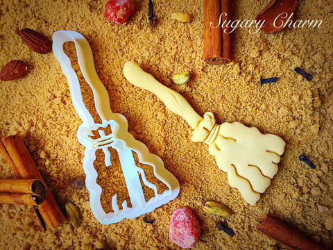 Halloween Witch Broom cookie cutter