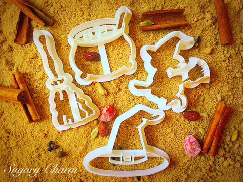 Halloween Witch cookie cutter set (4 Pieces)