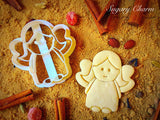 Christmas angel cookie from Sugary Charm