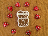 The Valentine Kiss cookie cutter