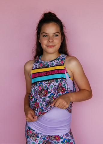 Mini Punk 'RAINBOW MERMAID' Muscle Tank